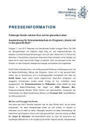 Pressemitteilung (pdf, 34.95 KByte) - Gesunde Kinder - Kommt mit in ...