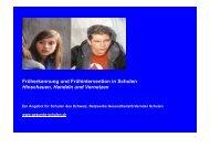 Projektausschreibung - Gesunde Schulen