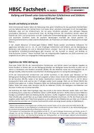 HBSC Factsheet Nr. 6/2013: Bullying und Gewalt unter ... - Give