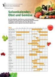 Saisonkalender: Obst und Gemüse - Gesundheit.bs.ch