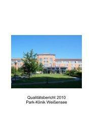 Qualitätsbericht 2010 Park-Klinik Weißensee - Krankenhaussuche