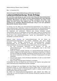 Lebensmittelwerbung: Erste Erfolge - Gesundheitsförderung Schweiz