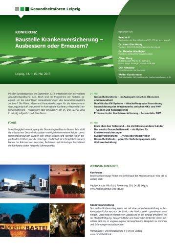 Baustelle Krankenversicherung - Gesundheitsforen Leipzig GmbH