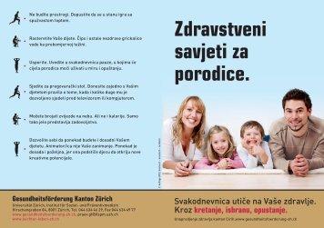 Zdravstveni savjeti za porodice. - Institut für Sozial- und ...
