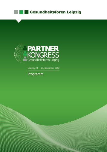 Programmheft 2012 - Gesundheitsforen Leipzig GmbH