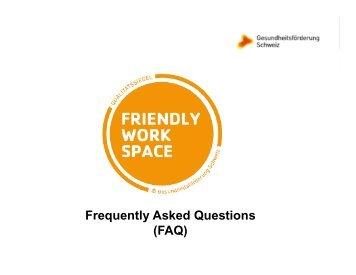 Frequently Asked Questions (FAQ) - Gesundheitsförderung Schweiz