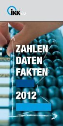 ZAHLEN DATEN FAKTEN 2012 - IKK e.V.