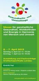 7. April 2013 - Gesundheits- und Umwelttage