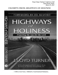 Excerpts from Highways of Holiness - Get America Praying
