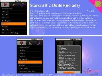 Starcraft 2 Builds(no ads) - Get Mobile game