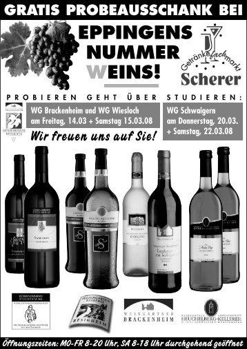 EPPINGENS NUMMER WEINS! - Getränkefachmarkt Scherer