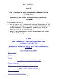 Entwurf Erste Verordnung zur Durchführung des ... - Getreideheizung
