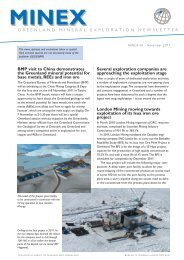 Greenland MINEX News No. 40 - Geus