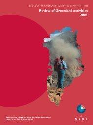 Review of Greenland Avtivities 2001 - Geus