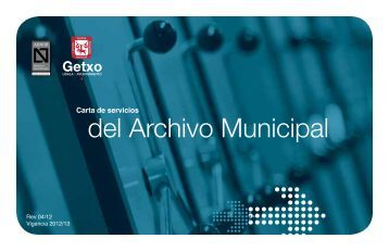 Carta de Servicios del Archivo Municipal - Getxo