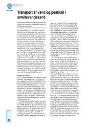 Transport af vand og pesticid i smeltevandssand - Geus