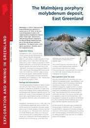 Exploration and Mining in Greenland, Fact sheet no. 11, 2005 - Geus