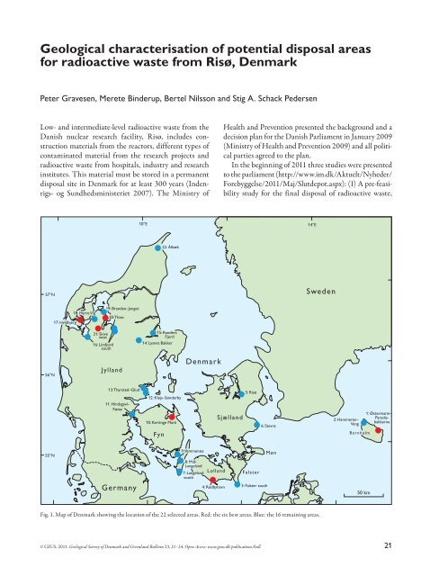 Geological Characterisation Of Potential Disposal Areas For Geus