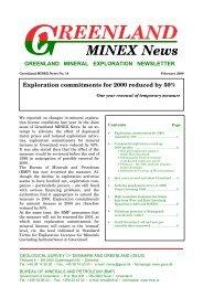 Greenland MINEX News No. 18, February 2000 - GEUS