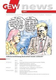 Hannover News 1/2011 - GEW Hannover