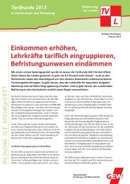 Tarifinfo Hochschule Februar 2013 - Gew-tarifrunde.de
