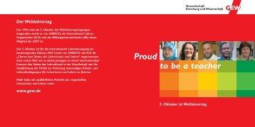 GEW-Broschüre zum Weltlehrertag