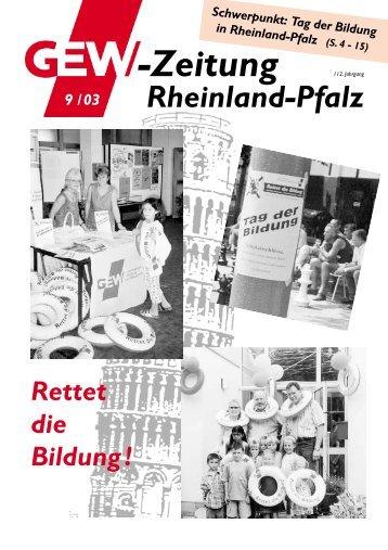 Zeitung - GEW Rheinland-Pfalz