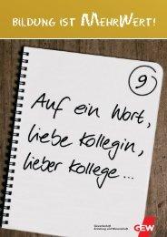 Gewerkschaft Erziehung und Wissenschaft - Gew-tarifrunde.de