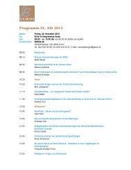 Programm IX. AIS 2013 - bei der GEWOS AG