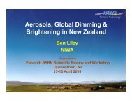 Ben Liley – Aerosols and global dimming - GEWEX