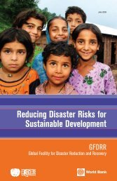 Reducing Disaster Risks for Sustainable Development - GFDRR
