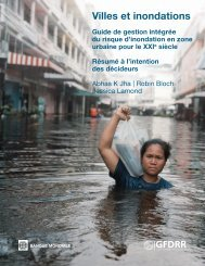 Villes et inondations - GFDRR