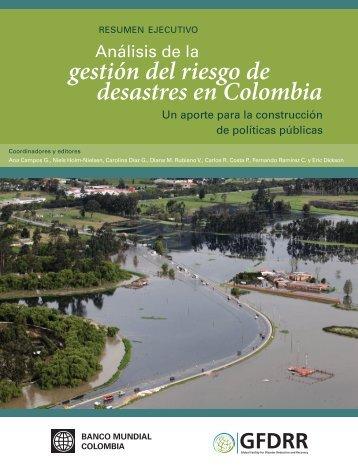 gestión del riesgo de desastres en Colombia - GFDRR