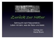 Sehnsucht nach Naturerlebnis - Leben mit dem, was die Natur uns ...