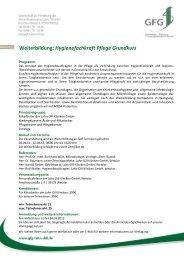 Weiterbildung: Hygienefachkraft Pflege Grundkurs - GFG