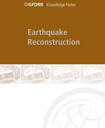 Earthquake Reconstruction - GFDRR