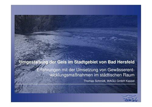 Umgestaltung der Geis im Stadtgebiet von Bad Hersfeld ...
