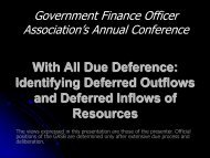 deferred outflows of resources - Government Finance Officers ...