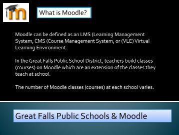 Great Falls Public Schools & Moodle