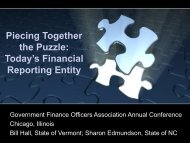 Presentations - Government Finance Officers Association