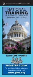 Brochure - Government Finance Officers Association