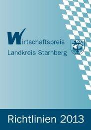 Richtlinien 2013 - GFW Starnberg mbH