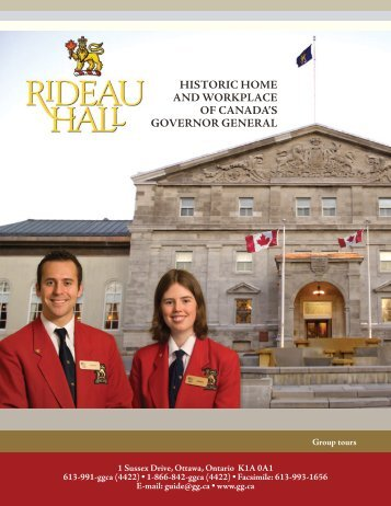 Brochure Historic Home and Workplace of Canada's Governor ...