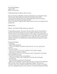 Board Meeting Minutes April 15, 2006 BMW of ... - GGC BMW CCA