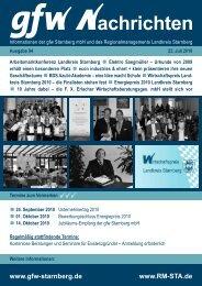Wirtschaftspreis Landkreis Starnberg 2010 - GFW Starnberg mbH