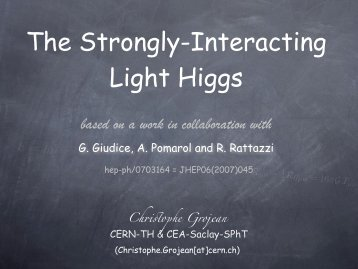 strongly-interacting light Higgs