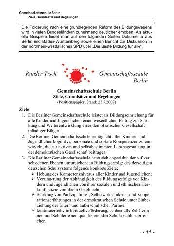 Runder Tisch Gemeinschaftsschule Berlin