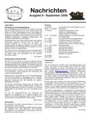 Nachrichten Ausgabe 8 - September 2008 - GGS-Overath