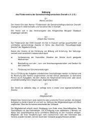 Satzung des Fördervereins - GGS-Overath