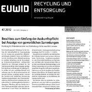 Abfall • Newsletter 11/2012 - GGSC